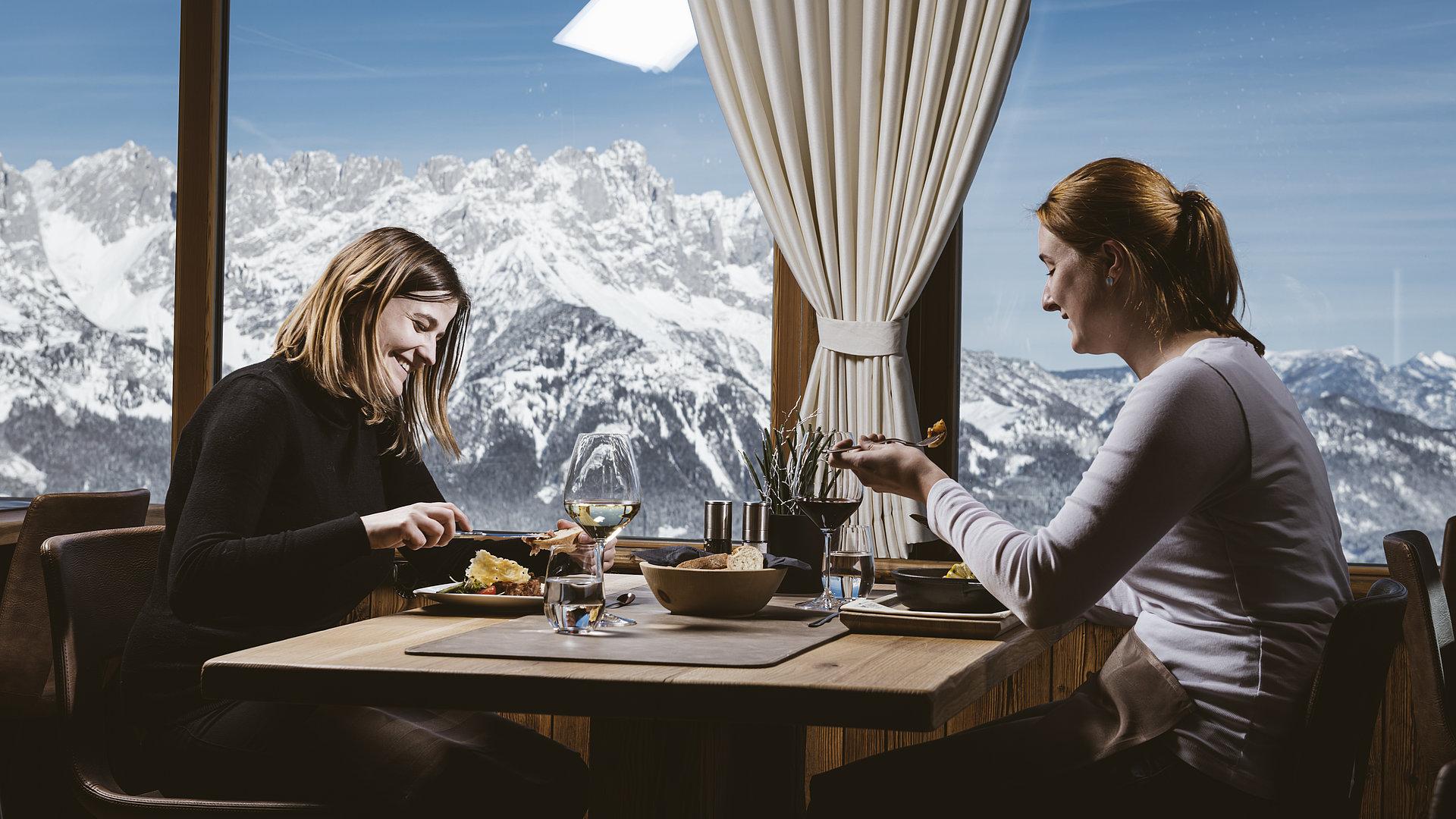 Kulinarische Genüsse im Skigebiet Ellmau-Going ©Alex Gretter Fotografie